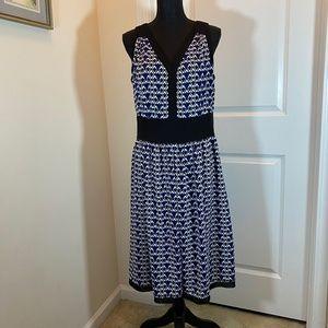 NWOT Anne Klein Sleeveless Geometric Print Dress